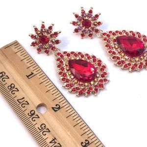 Cherryl's Jewelry - Red Crystal Sparkle Special Event Earrings